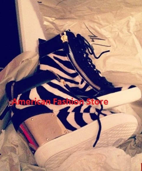 shoes zebra gold sneakers giuseppe zanotti luxury