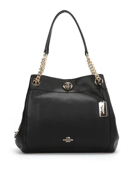 coach bag shoulder bag leather black