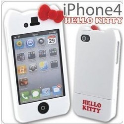 Hello Kitty iPhone 4 and 4S case (White)