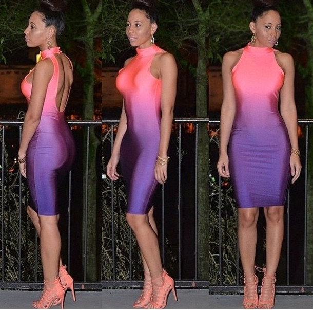 pink and purple dress - Dress Yp