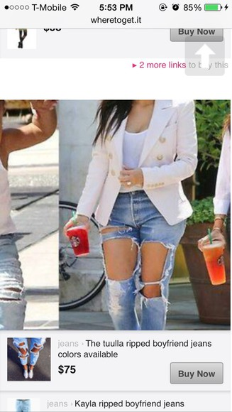 jeans ripped light blue