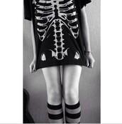 t-shirt,skeleton,skeleton top,ribcage,style,tank top,black t-shirt,black and white,tumblr,grunge t-shirt,emo,death