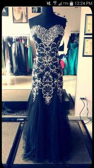 dress prom dress sherri hill mori lee black dress sparkle