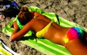 yellow swimwear,tie dye,tie dye swimwear,swimwear