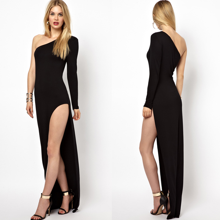 High split one shoulder maxi dress · summah breeeze · online store powered by storenvy