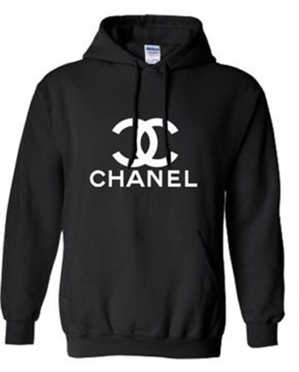jacket chanel hoodie chanelhoodie black