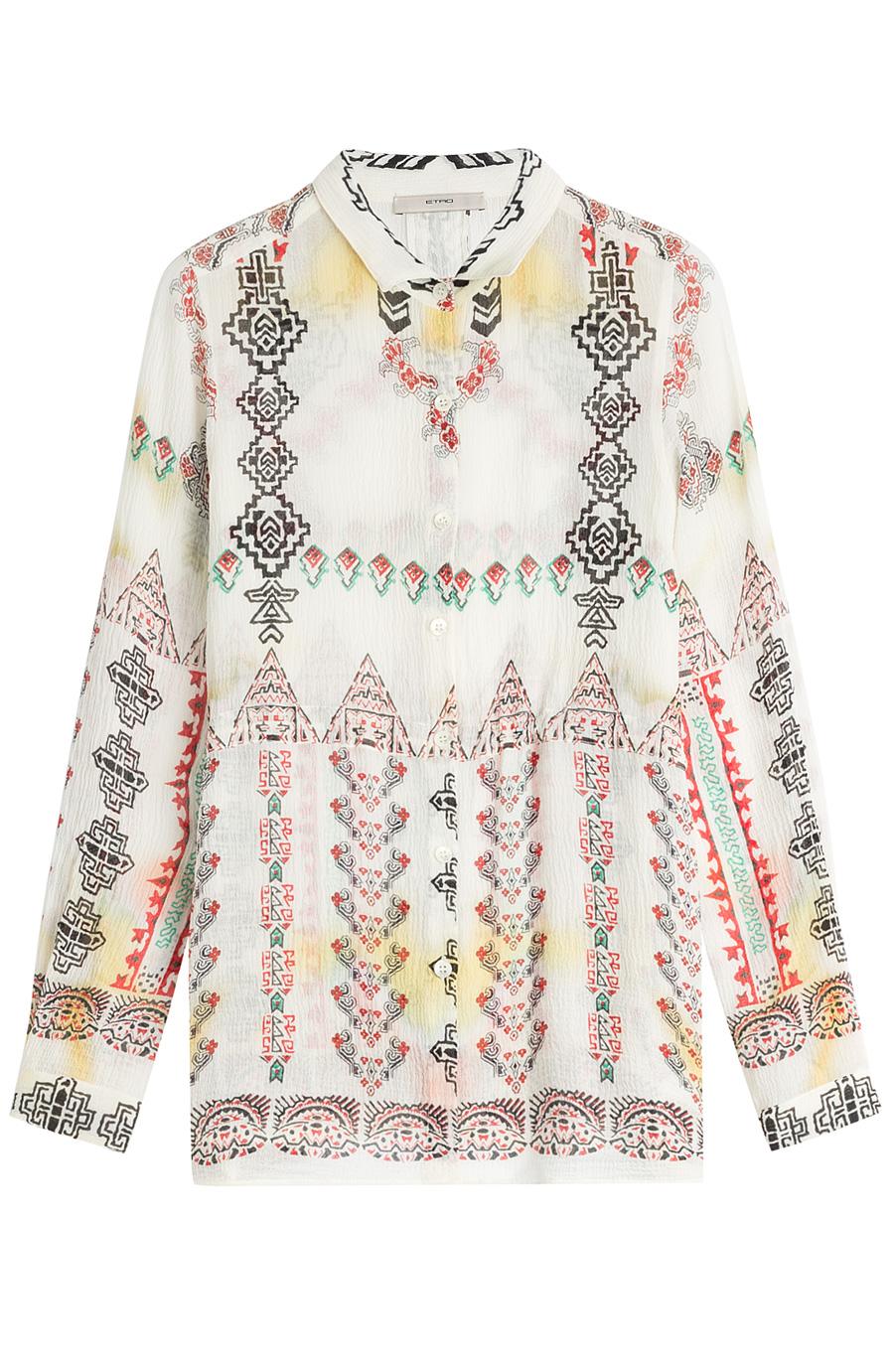 Etro - Printed Silk Blouse