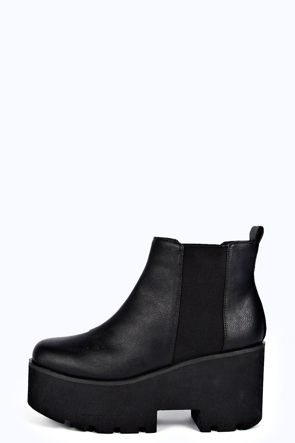 Zina elastic insert pull on cleated ankle boot