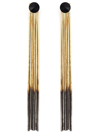 sun earrings black metallic jewels