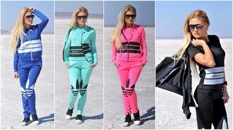 coat jacket top sweater zip black jumpsuit adidas blue winter sweater tracksuit pants pink 3 piece suit neon turquoise