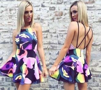 dress halter fashion printed dress