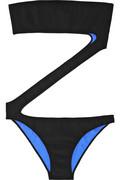 Emilio Pucci|Neoprene zigzag swimsuit|NET-A-PORTER.COM