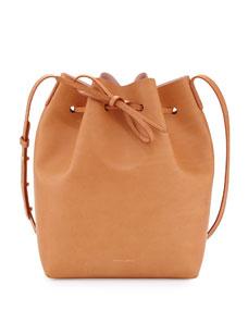 Mansur gavriel coated leather bucket bag, camel/pink