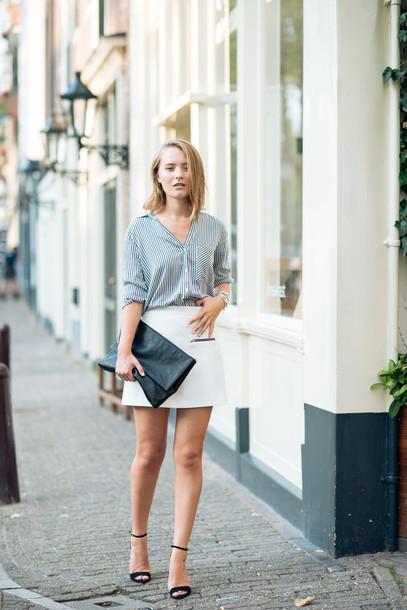 miss confidential blogger blouse skirt bag shoes