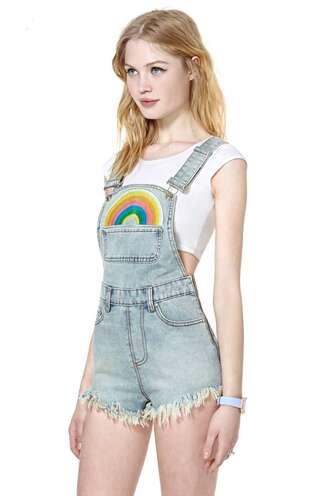 shorts t-shirt rainbow