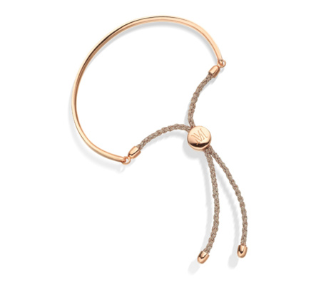 Fiji Friendship Bracelet in Rose Gold - Rose Metallica | Monica Vinader