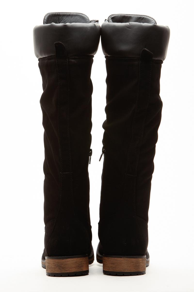 643c8832bda Black Faux Leather Calf Length Mountain Boots   Cicihot Boots Catalog women s  winter boots