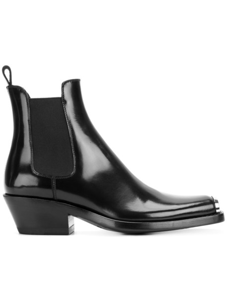 CALVIN KLEIN 205W39NYC women boots ankle boots leather black shoes