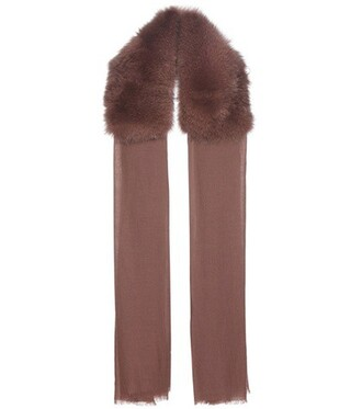 fur scarf fur scarf brown