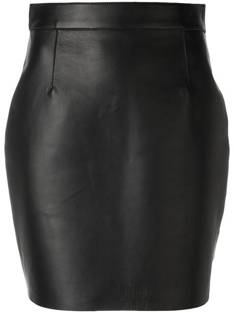 Dsquared2 skirt mini women leather black