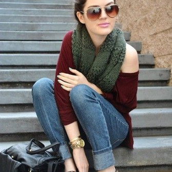 black red sweater shoes outfit sunglasses bag leopard print loafers flats maroon purse scarf shirt scarf red