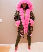 jacket,women jacket,fur coat,army green,army green jacket,womens parka,womens jackets and coats