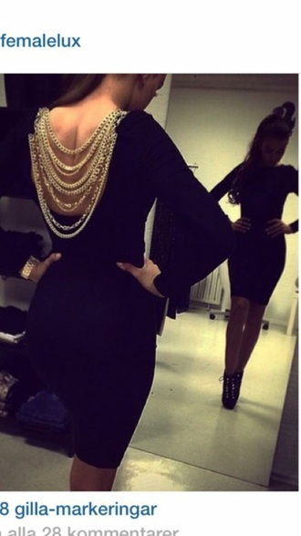 dress chain short black dress