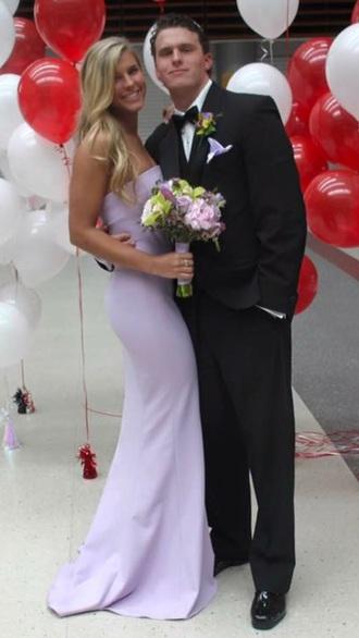 dress prom dress purple dress long dress long prom dress formal dress mermaid prom dress simple dress lilac lavender prom dresses