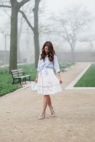 sequins and stripes blogger shirt skirt shoes bag