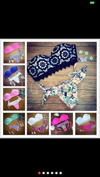 swimwear pearl pink swimwear tassel brazilian bikini push up bikini top