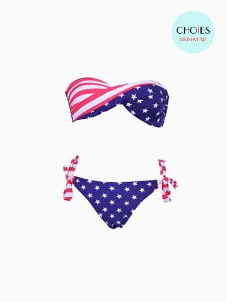 New Look Flag Pattern Bikini   Choies