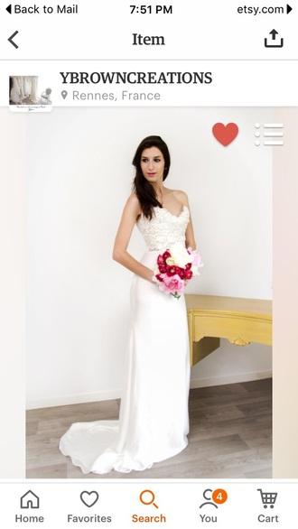dress strapless lace wedding dress
