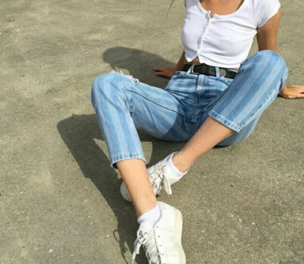 jeans stripes denim blue