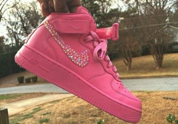 Shoes Custom Shoes Pink Nike Air Force 1 Nike Air Force 1 High