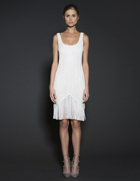 dress neem khan cocktail dress white dress