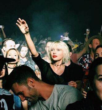 jewels top choker necklace taylor swift coachella music festival festival instagram