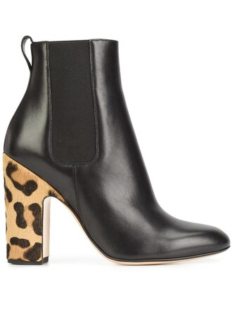 heel hair women boots heel boots leather black shoes