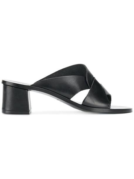 ATP Atelier women mules leather black shoes