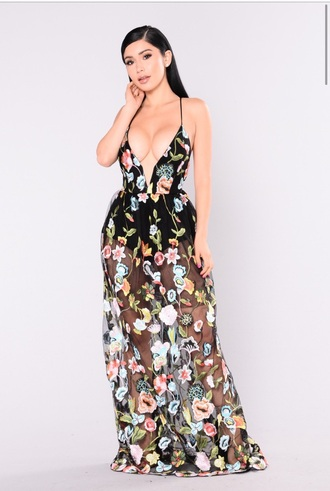 dress nude dress sheer floral curvy