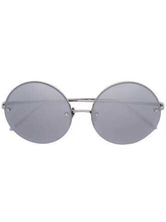 women sunglasses round sunglasses gold grey metallic