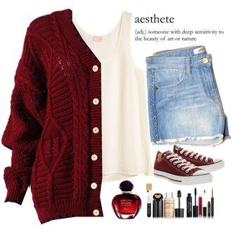 sweater knitted cardigan oversized cardigan cardigan oversized sweater winter sweater red knit sweater burgundy shorts