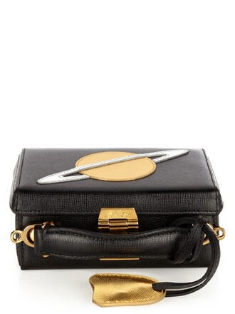 mini bag leather gold black