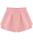 Pink high waist ruffle skirt shorts