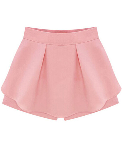 High Waist Ruffle Skirt Shorts - Sheinside.com