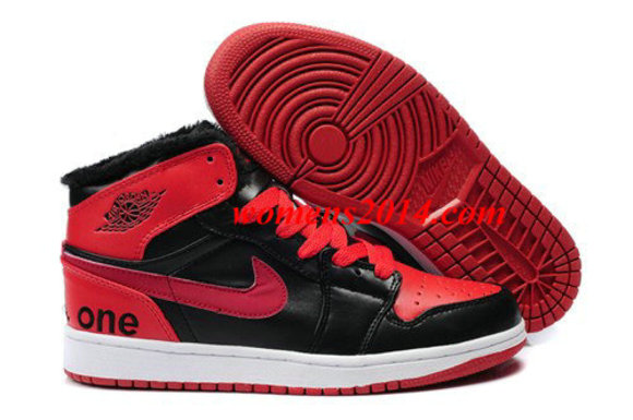 fur red black shoes air jordan 1 men air jordan i mens