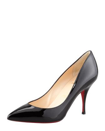Christian Louboutin Flueve Pointed-Toe Slingback Pump, Black - Bergdorf Goodman