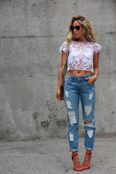 shirt jewels white cute jeans top a fashion love affair jacket bag lace blouse