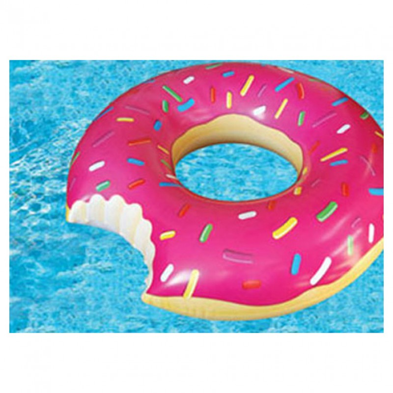Inflatable floats gigantic donut pool float for Cute pool pictures