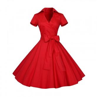 dress vintage dress red dress waist belt cocktail dress party dress