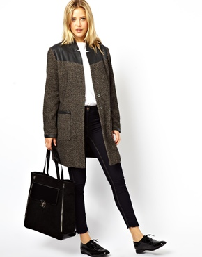 ASOS | ASOS Textured Block Coat at ASOS